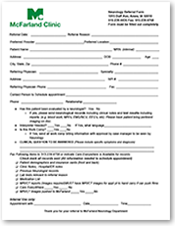 Neurology Referral Form