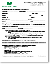 Physical Medicine and Rehab referral form thumbnail