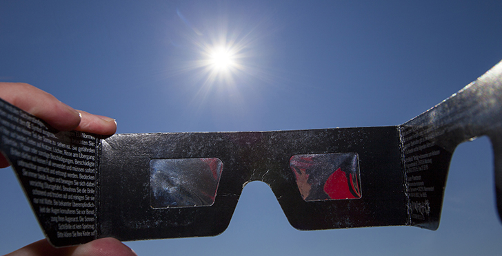 Eclipse Glasses with Sun