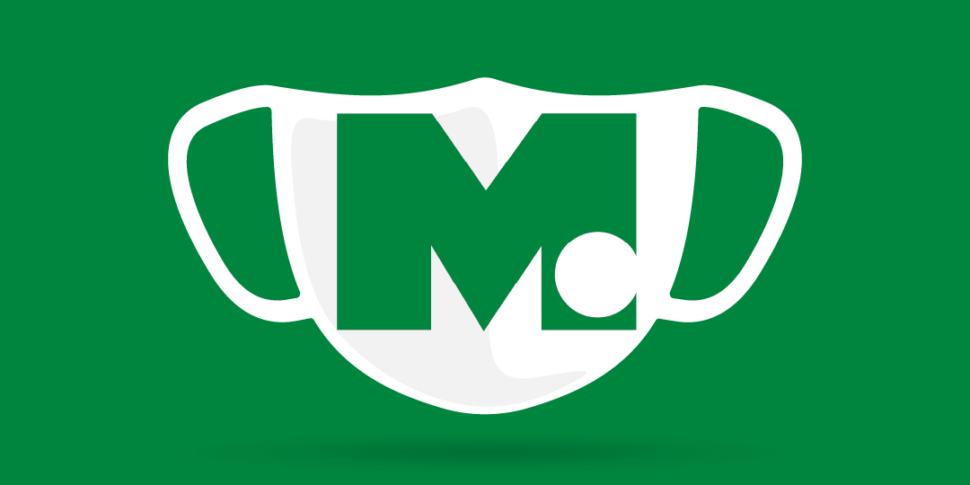 face covering with McFarland Clinic logo
